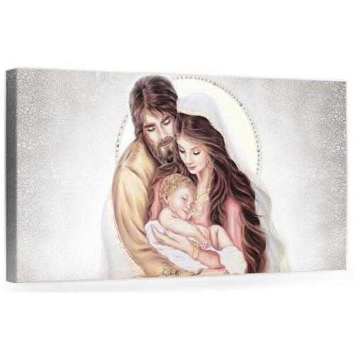 """A019 Quadro capezzale moderno su tela per la camera da letto con decorazioni- Sacro """"Sacra Famiglia"""""""