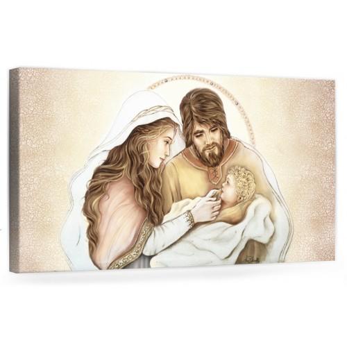 """A021 Quadro capezzale moderno su tela per la camera da letto con decorazioni- Sacro """"Sacra Famiglia"""""""