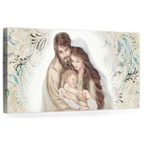 """A043 Quadro capezzale moderno su tela per la camera da letto con decorazioni - Sacro """"Sacra Famiglia"""""""
