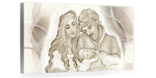 """A044 Quadro capezzale moderno su tela per la camera da letto con decorazioni - Sacro """"Sacra Famiglia"""""""