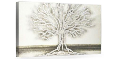 """A028-2 Quadro moderno su tela per arredare la casa con decorazioni 3D - raffigurante """"Albero/ Paesaggio"""""""