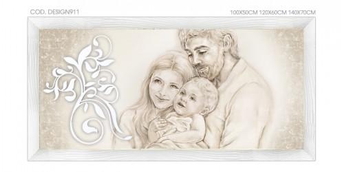 """DESIGN911 Quadro capezzale moderno su tela """"Unione Famiglia"""" (non a tema sacro)"""