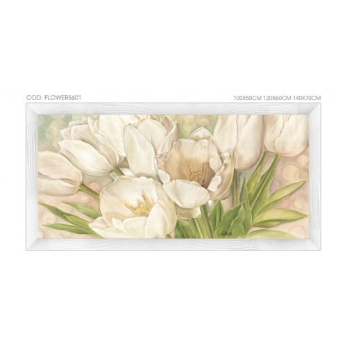 FLOWERS601 Quadro moderno su tela con fiori \