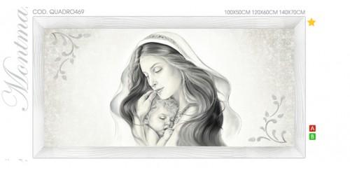 QUADRO469  Quadro capezzale moderno su tela immagine maternità sacro