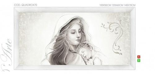 QUADRO470  Quadro capezzale moderno su tela immagine maternità sacro