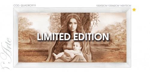 """QUADRO919 LIMITED EDITION Quadro capezzale moderno su tela """"Madonna dell'ulivo"""" (tiratura limitata e numerata)"""