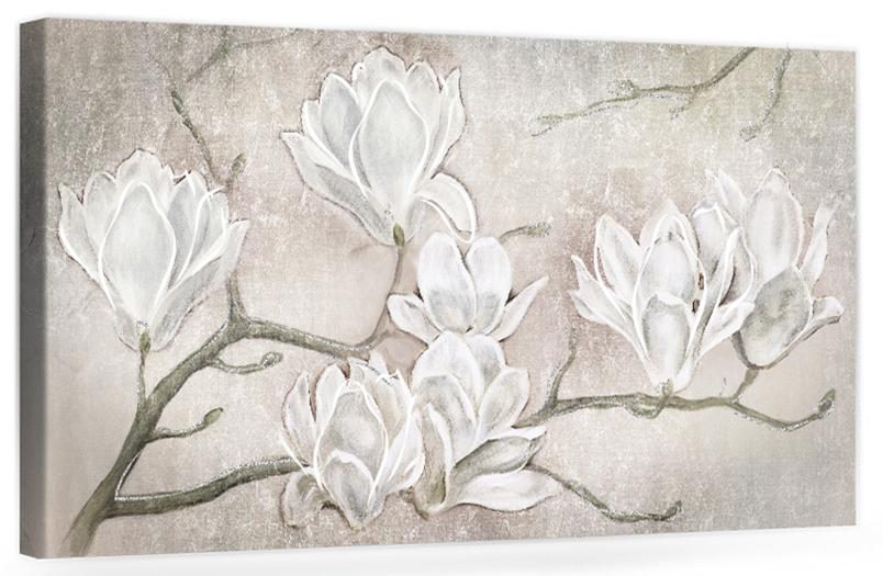"""F006 Originale quadro moderno su tela con fiori per il soggiono decorazioni 3D """" Mannolie """""""