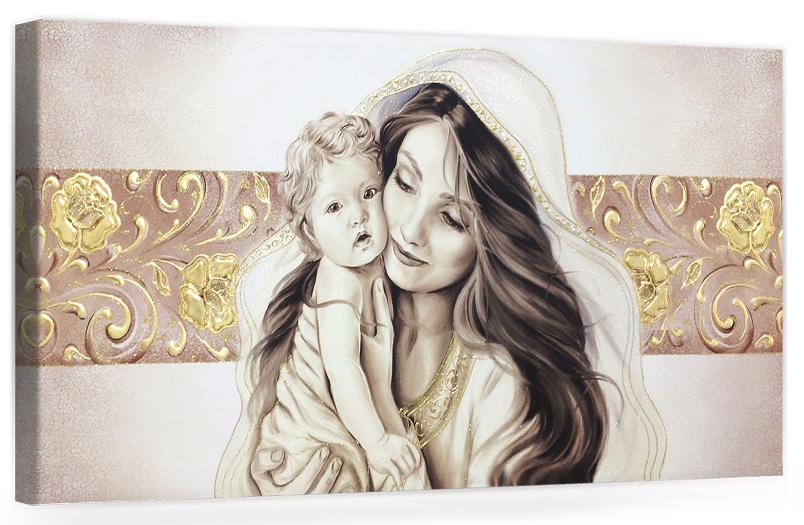Capezzale quadro moderno su tela sacro \