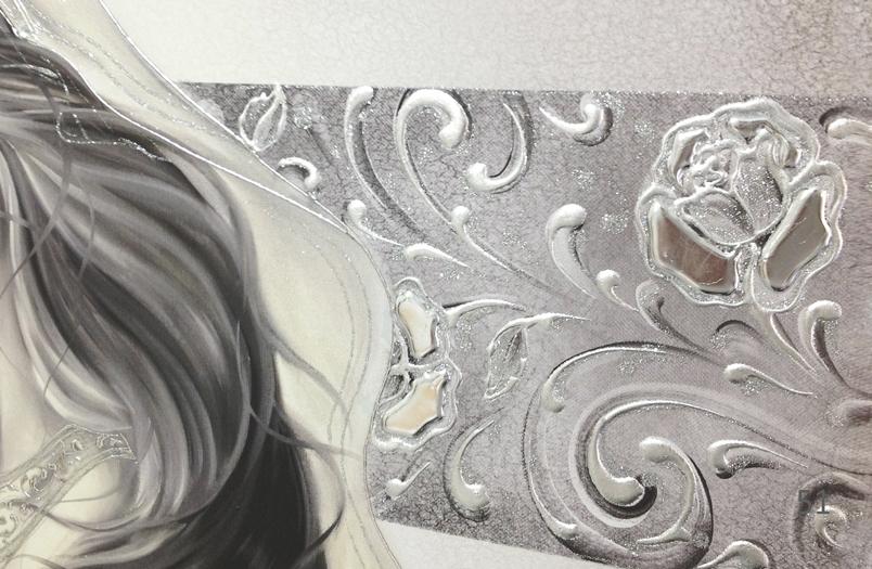 """COD. BASIC16 MONOC. ARG - Capezzale quadro moderno su tela sacro """" Maternità """" Madonna con Bambino"""