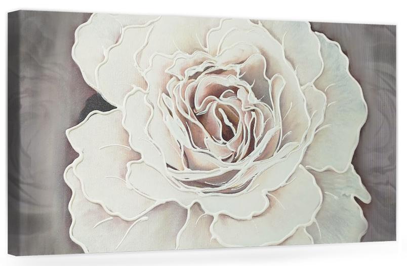 """Originale quadro moderno su tela con fiori per il soggiorno decorazioni 3D """"Rosa Gigante"""""""
