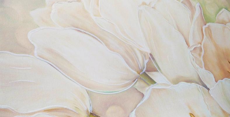quadro tulipani con fiori moderno floreale su tela montmartre
