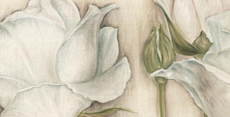 quadro con rose floreale dipinto con fiori montmartre decorato