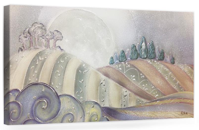COD. PAESAGGIO04 COLOR ARG - Quadro moderno su tela con paesaggio